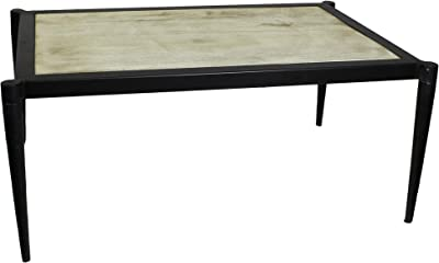 Handcrafted Rhys Rustic Urban Iron Antique Reclaimed Wood Coffee Table