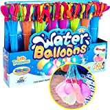 Toyzabo Water Balloons Quick Fill Bunch of Water Balloons Bulk Water Toys Rapid Fill Water Balloon Bunch Great Water Toy Water Balloon Filler Splash Out Fun 296 Water Balloons in 160 Seconds