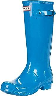 Hunter Kids Original Kids' Gloss Rain Boot (Little Kid/Big Kid) Blue Bottle 2 Little Kid