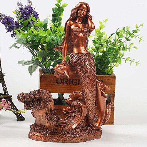 xzl Un Delfino Bar cremagliera del Vino Creativo Resina Artigianato Decorazioni Vino Rack Vino Rame Mermaid Equitazione