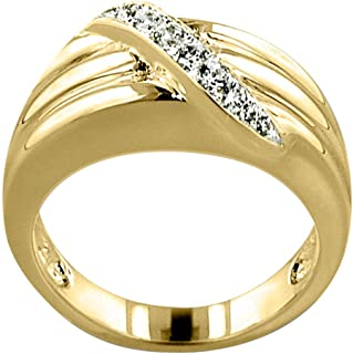 Perfect Memorials Path to Heaven 14k Gold Vermeil Cremation Ring Size 7