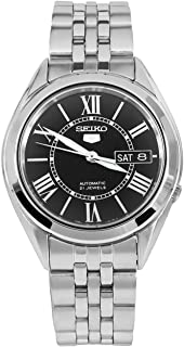 Seiko 5 SNKL35 Men's Stainless Steel Black Roman Dial Japanese Automatic Watch