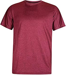 Honestyivan Men's Solid Color O-Neck Sport Short Sleeve Tops Casual Loose Breathable Fast-Dry T-Shirt Blouse Summer