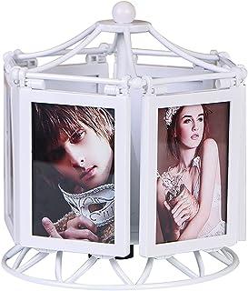 Picture Frame إطار الصورة متعددة الوظائف، مربع الموسيقى الدورية، إطار الصورة البيضاء الإبداعية، 3.5x5 عرض الصور، الأطفال أ...