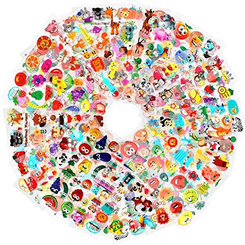 HOWAF 1000+ Pegatinas Pack para Infantiles, 48 Hojas Diferentes 3D Pegatinas Hinchadas Animales Fruta Vegetales para Infantil de Fiesta Cumpleaños Regalo Recompensa Album Scrapbooking Manualidades