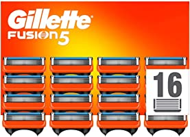 Gillette Fusion 5 Cuchillas de Afeitar Hombre, Paquete de 16 Cuchillas de Recambio (El Diseño Exterior del Paquete Puede...