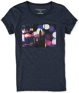AEROPOSTALE Womens Ny City Lights Graphic T-Shirt