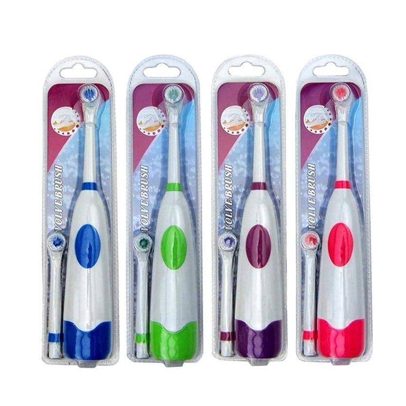 混雑守るタフ回転式 大人 子供 電動 歯ブラシ 回転 口腔衛生 防水 AEdiea