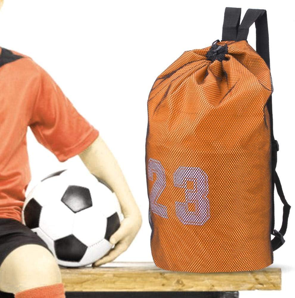 Alomejor1 Mochila de f/útbol Bolsa de Tela Oxford con cord/ón Bolsa de Almacenamiento de Malla de Ejercicio para Baloncesto F/útbol F/útbol