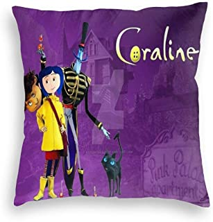 YGHAPPY Coralines Mom Velvet Pillowcase Cover Decor Comfy Throw Pillows Case Square Cushion for Hair Home Car 24
