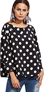 Beautique Style Polka Dot Blouse for Women