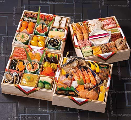 京都の料亭 濱登久 おせち料理 2021 和洋与段重 57品 盛り付け済み 冷蔵 生おせち 5人前〜6人前 和風 洋風 お届け日:12月31日
