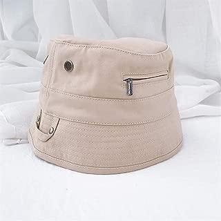 SHENTIANWEI Japanese Designer Models Retro Solid Niche Fisherman hat Men and Women Fall Fashion Tide of Street Bucket hat Bucket Hats (Color : Beige, Size : One Size)