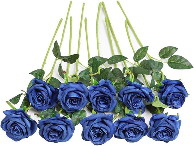 2411 opinioni per JUSTOYOU Bouquet di Fiori di Seta Rosa Artificiale Home Office Composizioni di