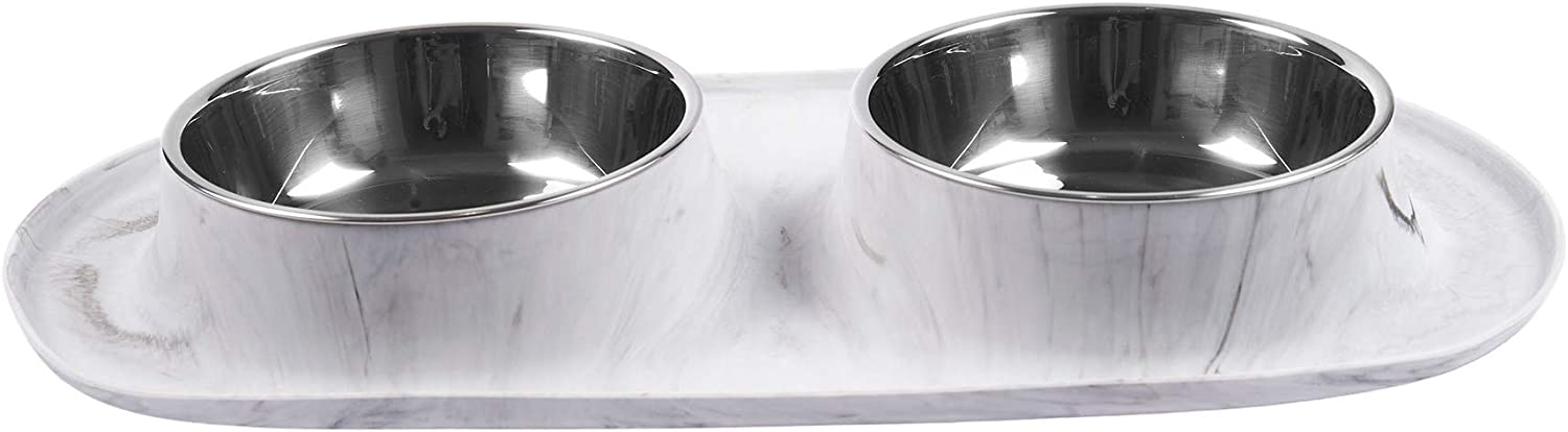 Messy Mutts Double Silicone Rapid rise Stainless San Diego Mall with Bowls Feeder