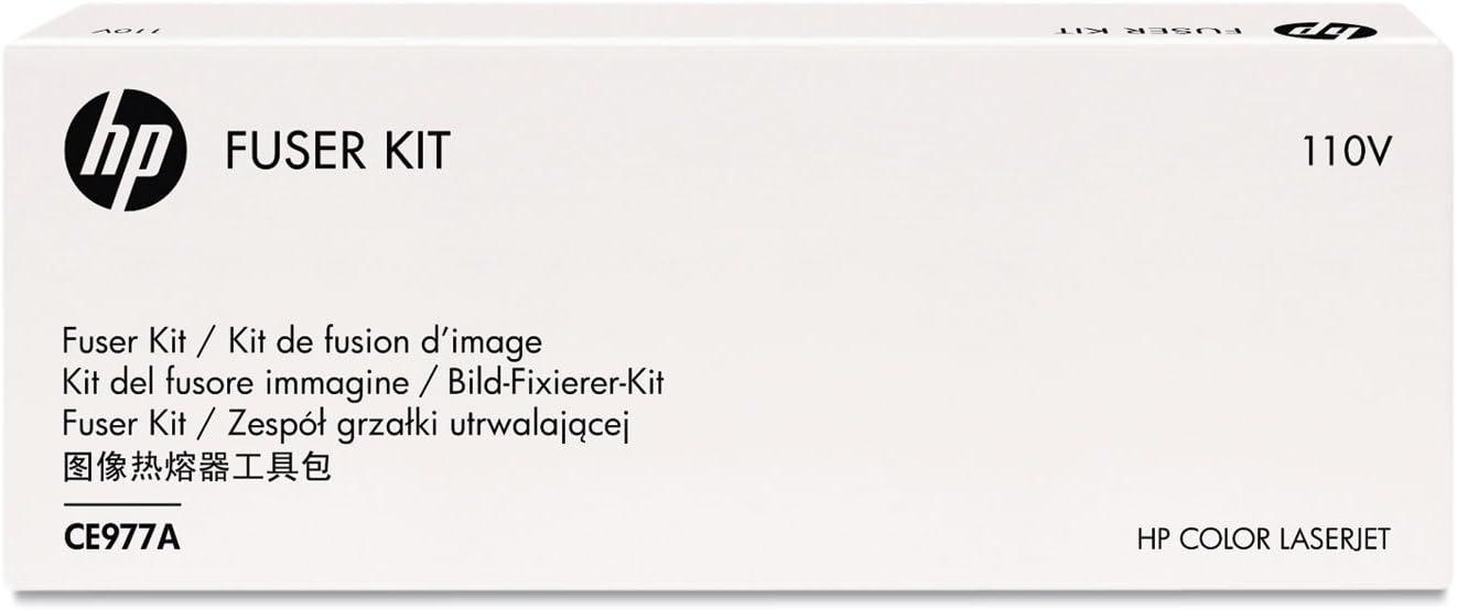 HP CE977A Laser Printer Fuser Kit, 150000 Page Yield, 110 V AC, BK