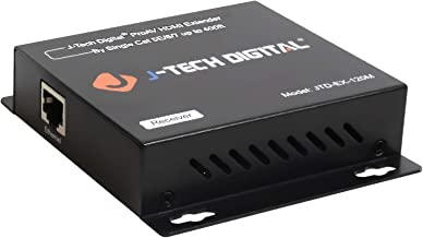 J-Tech Digital Hdmi Extender Over TCP/IP Ethernet/Over Single Cat5e/cat6 Cable 1080p with IR Remote Control - Up to 400 Ft -Receiver Only