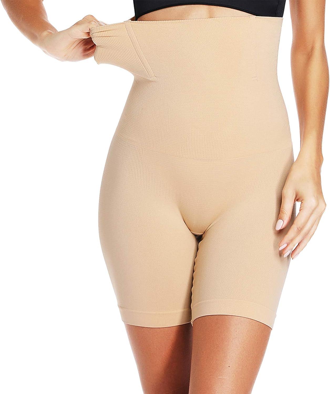 JOYSHAPER Shapewear Shorts for Women Thigh Slimmer Slip Shorts Under Dress Tummy Control Panties Body Shaper