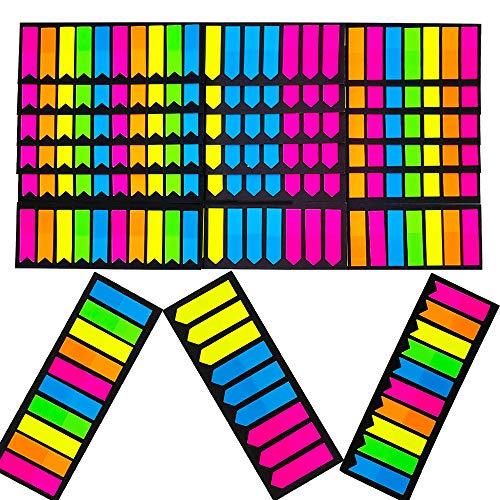 3480pz Segnapagina Adesivi Etichette Colorati Indice Bandiere Freccia Linguette Scrivibile Etichette Marcatore Segnalibri Note