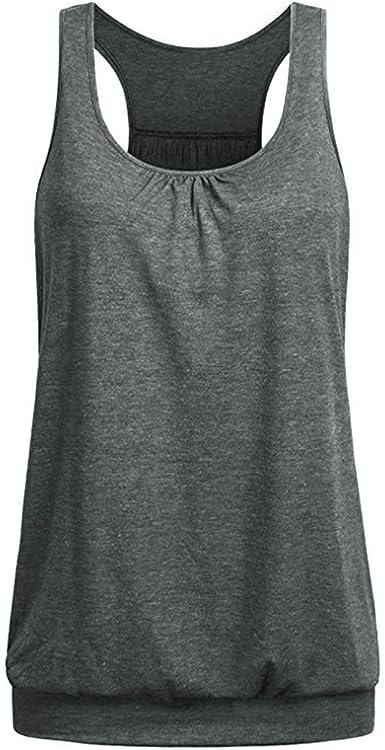 Mujeres Camiseta Tirantes Deportiva, Blusa Tallas Grandes Camisa Tops sin Mangas Camiseta Basicas Gimnasio Gym Running Fitness Camiseta