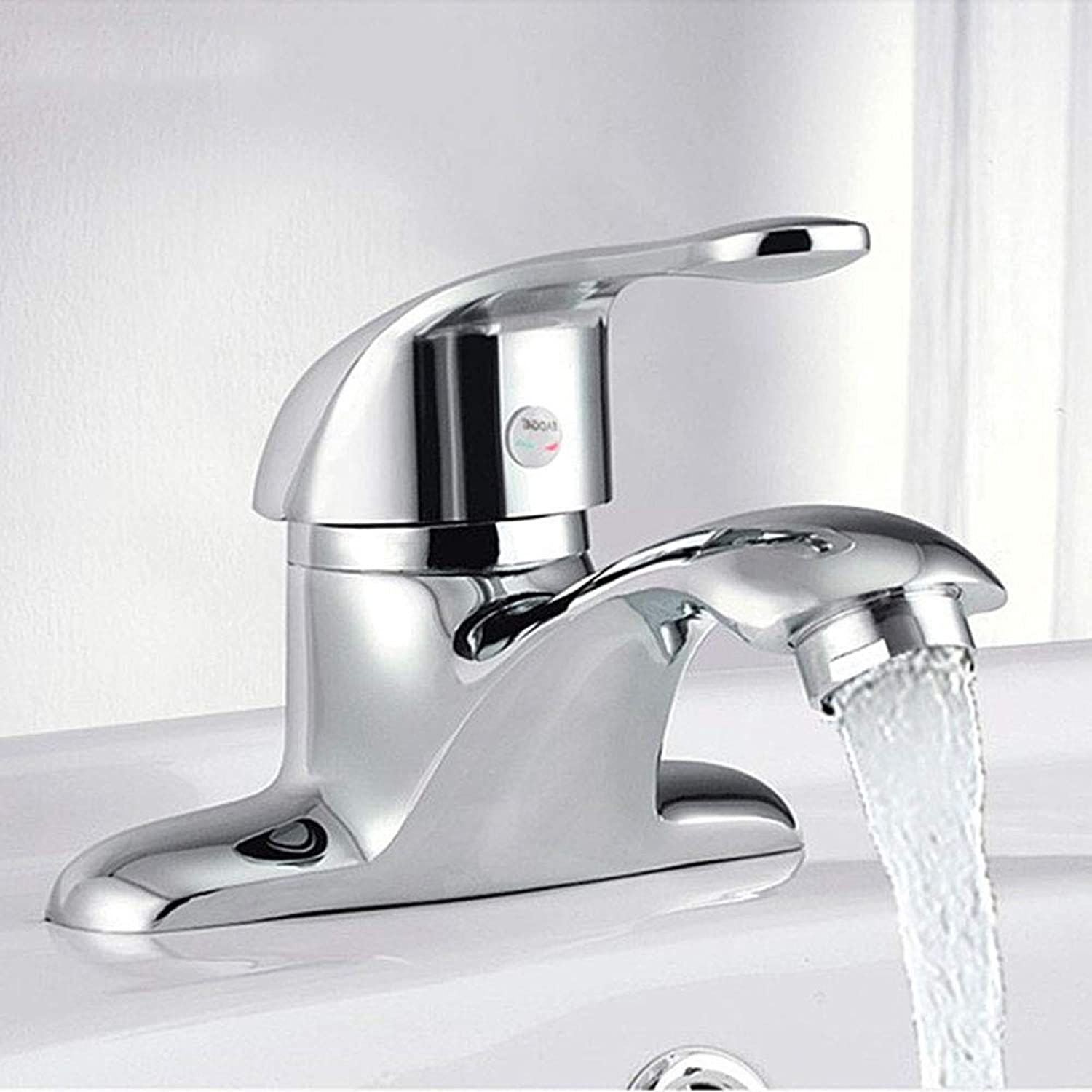 Gyy-tap Chrome Bathroom Mixer Fauce, Double Bathroom Taps Copper Washbasin Basin Faucet Basin Hot And Cold Water Faucet
