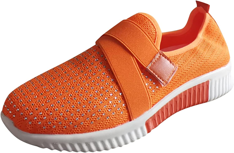 FAMOORE Women's Slip on Shoes Women's Fashion Sneakers Casual Sp