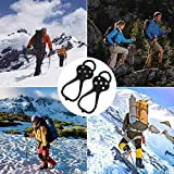 Kexle Universal Non-Slip Gripper Spikes - Ice Cleats with 5-Claw Anti-Slip Nails, Durable Shoe Ice & Snow Grips, Ice Grippers Traction, Shoe Covers for Shoes and Hiking Boots Walking Climbing Fishing