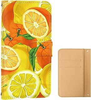 ケース 手帳型 カードタイプ Xperia Z5 Premium (SO-03H) [トロピカル・カラフル] LEMON エクスペリア ゼットファイブ プレミアム スマホケース 携帯カバー [FFANY] tropical-129@01c