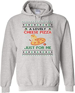 Coberusgift Unisex A Lovely Cheese Pizza Just for Me Christmas Holiday Hoodie