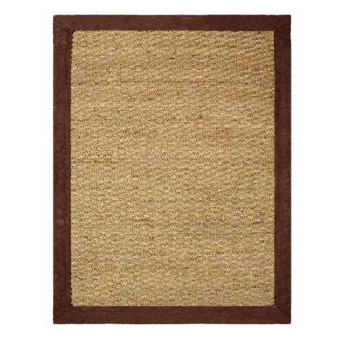 Chesapeake Seagrass 5-foot by 7-foot Area Rug, Chocolate