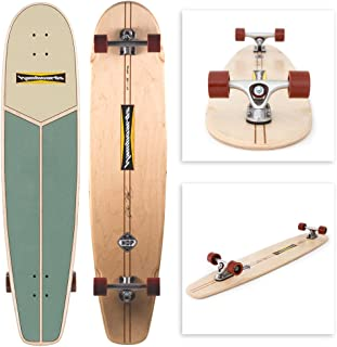 Hamboards Huntington Hop - Handcrafted Longboard Skateboard for Landsurfing & Cruising - Laminated Birch & Maple
