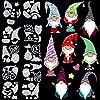 Gnome カッティングダイス メタルカッティングダイス カーボンスチール エンボス加工 スクリプト ダイステンシル サンタクロース ノームダイス クリスマス ハロウィン 感謝祭 ホリデー DIYデコレーション用品 10個