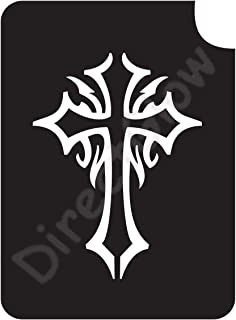 Celtic Cross 1008 Body Art Glitter Makeup Tattoo Stencil- 5 Pack
