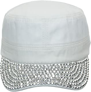 Something Special Women s Jewel Visor Bling Military Style Cadet Cap One  Size 6eacac0e4ad