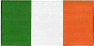Large Ireland Flag Embroidered Patch Irish Iron-On Eire Tri-Color Country Emblem