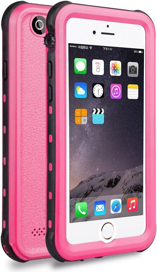 Zimu Joy iPhone 6 / 6s Waterproof Case, Underwater Full Sealed Cover Snowproof Shockproof Dirtproof IP68 Certified Waterproof Case for iPhone 6/6s 4.7 inch (Pink)