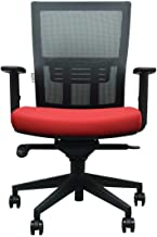 Danube Home Ceres Mid Back Office Chair, Black/Red - 65 x 50 x 101 cm