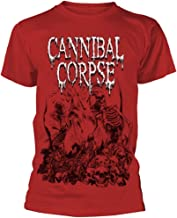 Cannibal Corpse 'Pile of Skulls 2018' (Rojo) T-Shirt