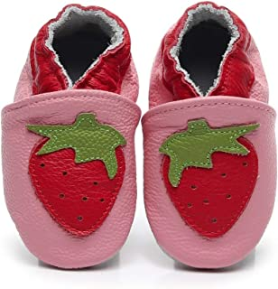 Cartoon Baby Moccasins with Soft Sole - Baby Girls Boys Shoes Leather Slippers for Infant First Walkers Toddlers