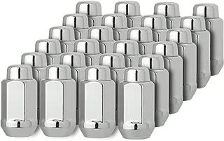 DPAccessories D3619-2305/24 24 Chrome 14x2 Closed End XL Bulge Acorn Lug Nuts - Cone Seat - 22mm Hex Wheel Lug Nut