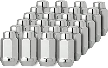 DPAccessories D3618-2305/24 24 Chrome 14x1.5 Closed End XL Bulge Acorn Lug Nuts - Cone Seat - 22mm Hex Wheel Lug Nut