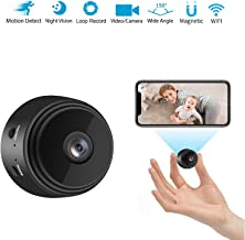 $36 » Spy Camera Hidden Camera for Home Security 1080P HD Mini Camera spy Wireless WiFi Home Nanny cam with Night Vision and Motion Detection Support SD Card, Covert Cameras Hidden for Indoor Outdoor