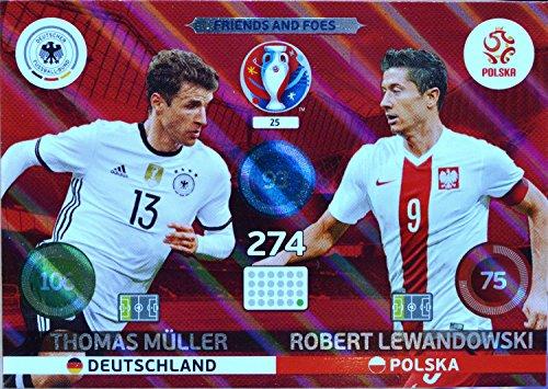 carte PANINI EURO 2016 #25 Müller - Lewandowski