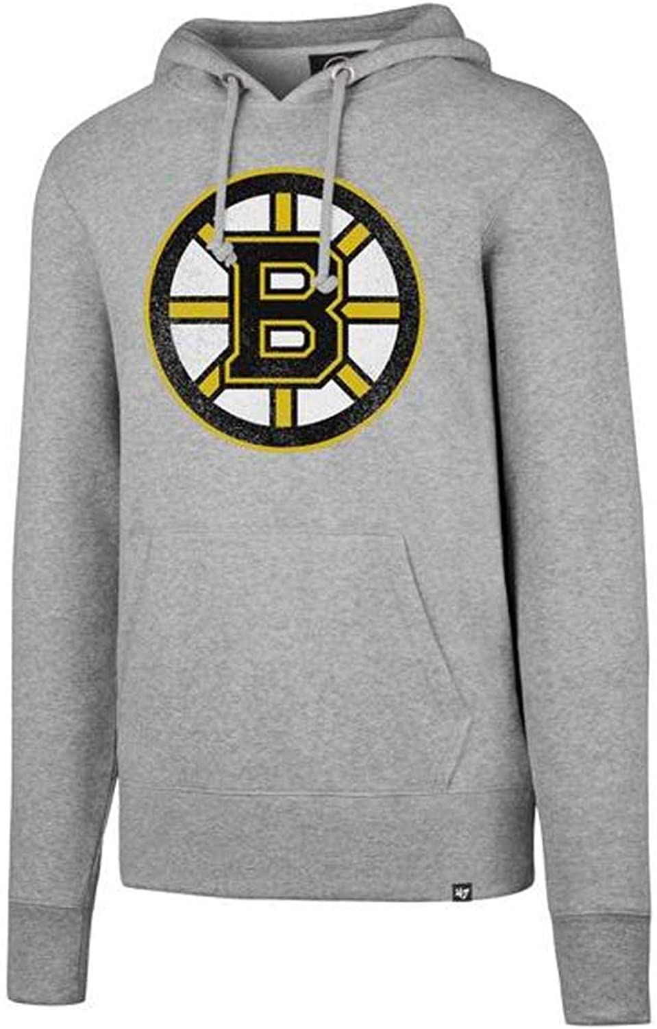 47 Forty Seven Brand Boston Bruins NHL Knockaround Headline Hoody Slate grau