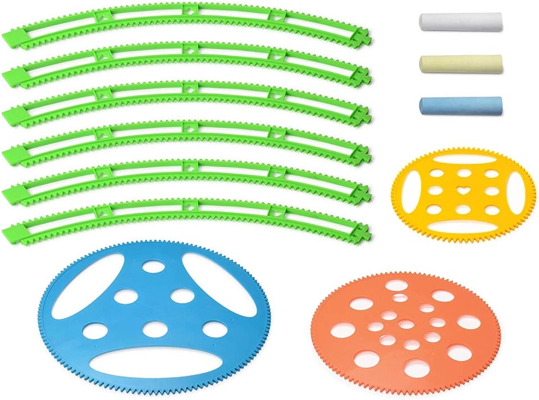 YKDY 12-in-1 Kreatives Spielzeug, Spirograph Zeichnen Lineal & Kreide Kreide Kreide Set B07N1MC7HV | Wirtschaft  08bc26