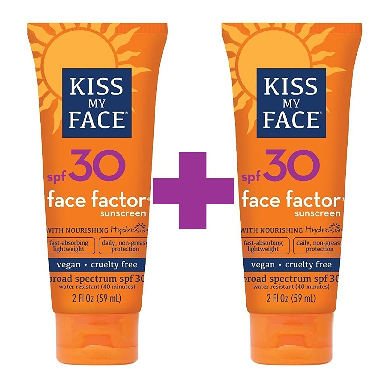 間違い泥沼すり海外直送品Kiss My Face Sun Care Face Factor SPF 30, EA 1/2 OZ (Pack of 2)