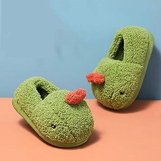B/H Forro cálido Pantuflas,Zapatillas de Interior de algodón cálido para niños en Winter-Green_180 / Longitud Interior 17c...