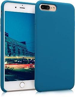 kwmobile Hülle kompatibel mit Apple iPhone 7 Plus / 8 Plus   Handyhülle gummiert   Handy Case in Petrol