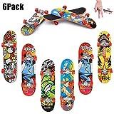 QNFY Finger Skateboard, 6PCS Mini Fingerboard Finger Skate Board...