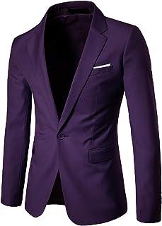 f6d94fae08b Men s Suit Jacket One Button Slim Fit Sport Coat Business Daily Blazer